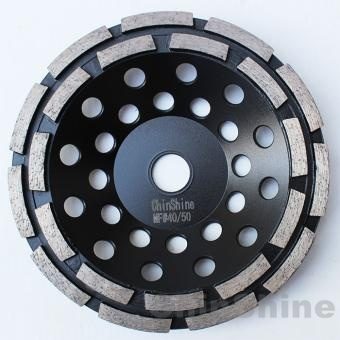 7 double row diamond grinding cup wheel