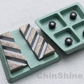 Diamond frankfurt grinding block for marble