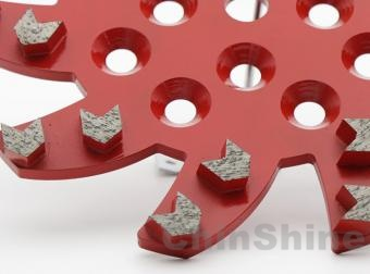 10 inch 250mm Diamond Grinding Plates For Concrete