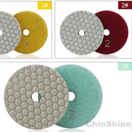 3 steps dry polishing pads