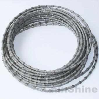 Multi diamond wire for granite block cutting