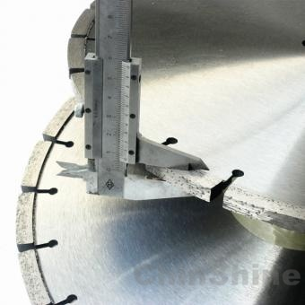 Diamond loop blades for cutting concrete asphalt